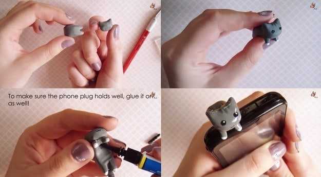 Kitty cat phone plug